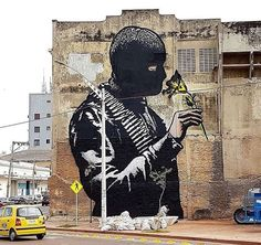 """""""Smelling Peace"""" by Goin in Barranquilla, Colombia, 3/17 (LP)"""