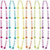 $2.99 Aloha Bead Necklaces 6ct - Party City