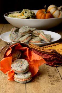 Mini Halloween Confetti Cookie Sandwiches #halloween #recipe #cookies