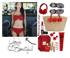 """""""Redđ"""" by pio-lala on Polyvore featuring Michael Kors, Manic Panic NYC, Beats by Dr. Dre, Yves Saint Laurent and Mignonne Gavigan"""