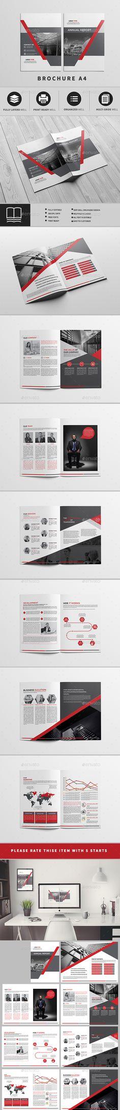 Annual Report Brochure - #Brochures Print Templates Download here: https://graphicriver.net/item/annual-report-brochure/19420231?ref=alena994