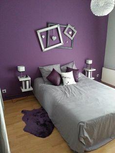 décoration violet | ... parentale gris et violet - karinedeco - Photos - Club Mon cahier deco