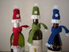 Wine Bottle Toppers by AkitaMomStudios on Etsy