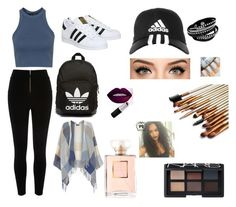"""Untitled #25"" by naomimbuka on Polyvore featuring River Island, Topshop, adidas, Dorothy Perkins, adidas Originals, NARS Cosmetics, women's clothing, women's fashion, women and female"