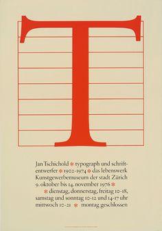 Jost Hochuli (1976) - Jan Tschichold*typograph und schriftentwerfer*1902 - 1974