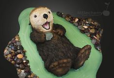 Sea Otter Cake - Cake by Little Cherry
