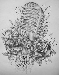 Old Style Mic Tattoo by ~SCENE-sationalx on deviantART