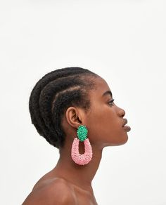 TWO-TONE HOOP-STYLE EARRINGS-Collection-READY FOR A BREAK-WOMAN | ZARA United States