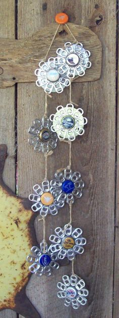 Bottlecap & Tab Windchime by Jennifer Cripps