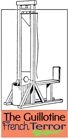 The Guillotine French Terror minibook to go with my French Revolution Unit Study.    #guillotine  #frenchrevolution  #ihsnet
