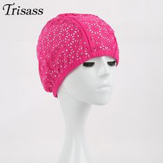 2016 Colorful Swimming Cap Solid Color Mesh Hat Hollow Out funny Caps Swimming Pool One Size  Swimwear Women Girls Sea Masonry