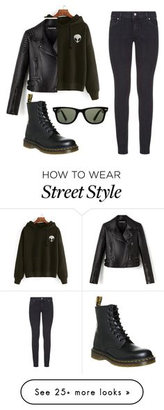 """""""street style"""" by juliyagrig on Polyvore featuring Paige Denim, Dr. Martens, Ray-Ban, StreetStyle and Leather"""