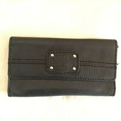 1f89bc986942 Black Fossil Wallet Long Live Vintage  fashion  clothing  shoes   accessories  womensaccessories