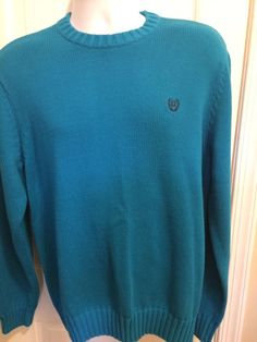 Chaps Men's Teal Cotton Sweater Size Large | eBay
