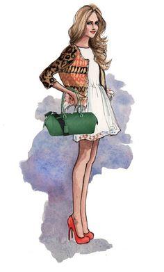 Louis Vuitton handbag Illustration - Louis Vuitton Neo Papillon GM Green M40736