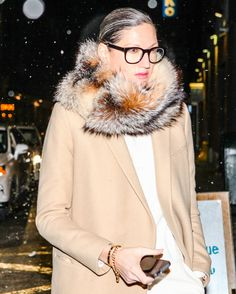What's Jenna Lyons Been Wearing Lately?: If Jenna Lyons was the best thing to happen to once-sleepy J.Crew, she's surely the best thing to happen to our personal-styling skills. Green Sequin Skirt, Jenna Lyons, J Crew Style, Fashion Pictures, Style Pictures, How To Look Pretty, Her Style, Style Icons, Winter Fashion