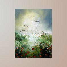 Alta qualidade Handmade da lona Abstract pintura a óleo da paisagem
