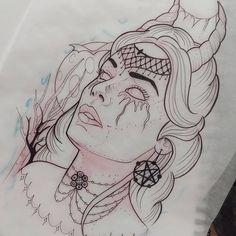 30 Ideas For Tattoo Traditional Devil Art Sketch Tattoo Design, Tattoo Sketches, Tattoo Drawings, Drawing Sketches, Body Art Tattoos, Snake Art, Arte Obscura, Dark Art Drawings, Tattoo Flash Art
