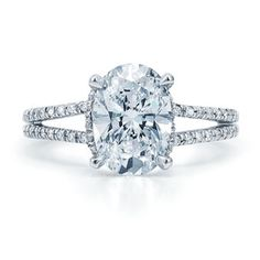 Possible future band change to my current engagement ring...    Oval diamond ring by Kwiat