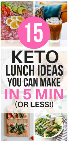 These keto lunch ideas are THE BEST!I'm so glad I found these AWESOME ketogenic lunch recipes that only take 5 minutes to make! Now I have some great lunch ideas to eat on the keto diet. #keto #ketorecipes #lunch #weightloss #healthyeating