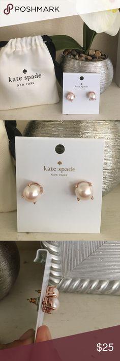 🎉HP🎉Kate Spade Pearl and rose gold earrings Brand new authentic Kate Spade rose gold and pearl earrings. 2 available. kate spade Jewelry Earrings