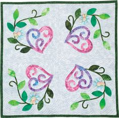 Heartfelt quilt by Cindy Simms, Heart Blossom block #510. Quiltmaker's 100 Blocks Vol. 6