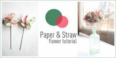 paper + straw flower tutorial