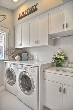 Small laundry room storage and organization ideas (68)