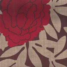 Behang Flower. Gezien in Hotel Bellevue - Romantik Jugendstil hotel in Duitsland. Verkrijgbaar bij artdecowebwinkel.com.