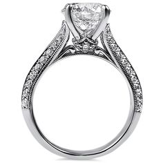 Gorgeous detail on this 2 carat engagement ring!  #engagement #2carat #diamond…