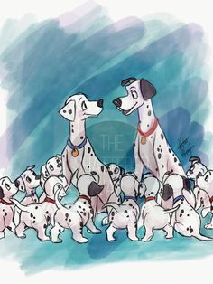101 Dalmatians Watercolor