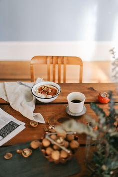 Persimmon + Walnut Rice Pudding —