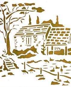 Lt Blue Toile Curtains - Home Style Corner Stencil Printing, Stencil Art, Stencil Designs, Kirigami, Glass Etching Stencils, Plasma Cutter Art, Paper Cutting Patterns, Duck Pond, Free Stencils