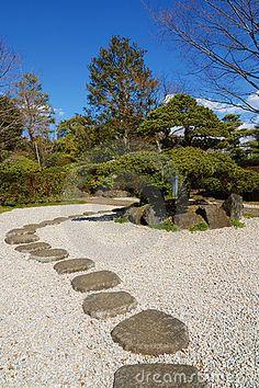 Bright sunny day in Zen garden, Tokyo, Japan © Yuryz
