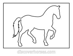 Running horse pattern. Use the printable outline for crafts ...