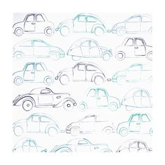 U0027Summer Campu0027 Tapete Autos Blau/mint. U0027