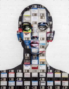 CULTURE N LIFESTYLE — Mixed Media Oil Paintings Using Floppy Disks by...