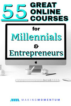 These are 55 Great Online Udemy Courses for Millennials, Side Hustlers and Entrepreneurs. If you're looking to learn a new skill or earn more money, Udemy courses are cost-effective ways to keep growing and developing your knowledge. Earn More Money, Make Money Blogging, Money Tips, Managing Money, Saving Money, Business Tips, Online Business, Business School, Business Launch