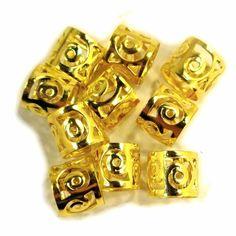 Swirled Dread Cuffs, 10 Pieces, Gold at I Kick Shins