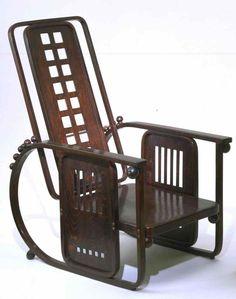 Josef Hoffmann (Austrian, 1870–1956) Sitzmaschine Chair with Adjustable Back (model 670)