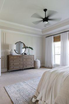 Home Bedroom, Master Bedroom, Bedroom Decor, Bedroom Built Ins, Bedroom Ideas, Wall Molding, New Room, House Design, Interior Design