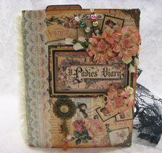 "TPHH ""A LADIES DIARY"" Vintage Handmade Chipboard Keepsake Album SHARON Graphic45 | eBay"