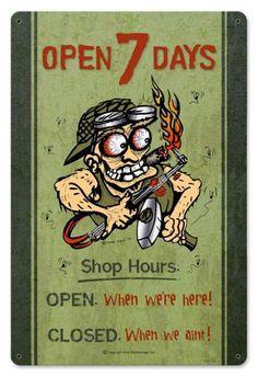 Vintage Mechanic Metal Sign, $24.98 (http://www.jackandfriends.com/vintage-mechanic-metal-sign/)