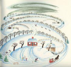 winter  The Little House by Virginia Lee Burton