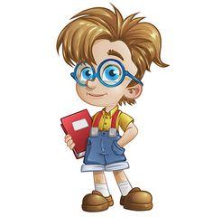 Geek Boy Character Free Vector