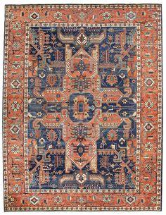 Geometric Oriental Rugs Gallery: Bakshaish Design Rug, Hand-knotted in Afghanistan; size: 10 feet 2 inch(es) x 13 feet 10 inch(es)