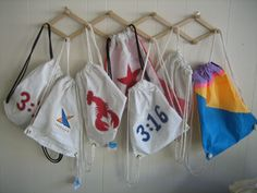Sailcloth Bermuda Backpacks. Lightweight and durable. And they fold up to fit in your pocket! #bags #sailcloth