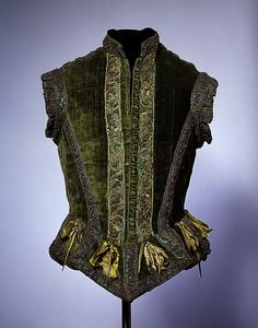 Doublet Date: ca. 1580 Culture: European Medium: silk, metallic thread, brass