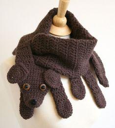 Animales del ganchillo Bufanda - Patrón perro de ganchillo bufanda