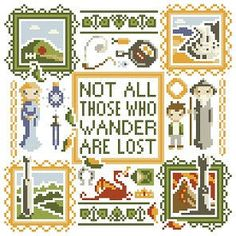Lord of the Rings - Middle-Earth Square Cross Stitch Pattern